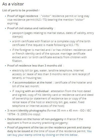 Renewing Your Visa Carte Or Titre De Sejour In France